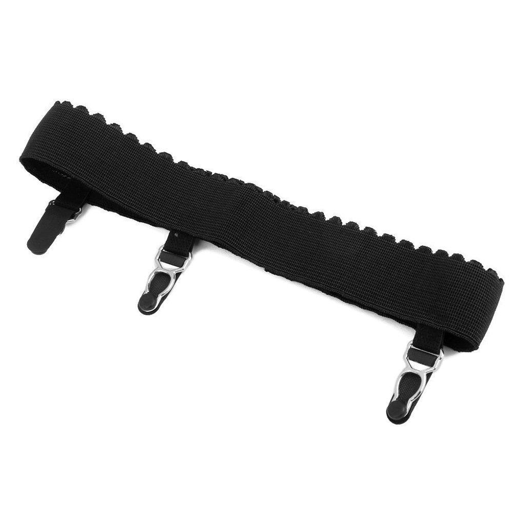 Vorcool coppia di reggicalze elastici da donna con fibbie/ nero /Taglia L