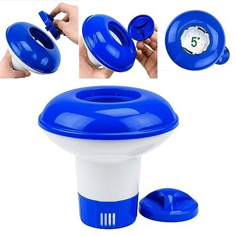 Hinmay Piscina dispensador de productos químicos bolsa de almacenamiento flotante desinfectante flotador Afloat Tablet (bromo