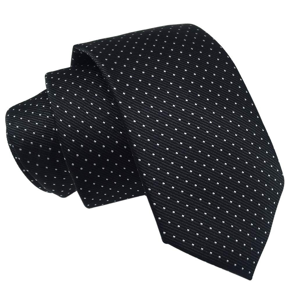Red Grey Plaid Mens Classic Skinny Tie 6cm//2.4 New Fashion Woven Silk Neckties