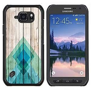 Stuss Case / Funda Carcasa protectora - Líneas Textura de madera Docks Pier Surf - Samsung Galaxy S6Active Active G890A