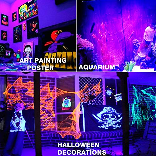 RONSHE UV LED Black Light, 50W Outdoor Ultra Violet LED Flood Light, IP66 Waterproof Blacklights for Dance Party, Neon Glow, Stage Lighting, Body Art Paint, Glow in The Dark Party Supplies by RONSHE (Image #3)