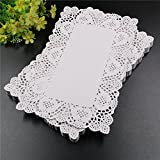 (160pcs/pack) Latest 7.512 inches rectangular Retro hollow flower shape lace doilies place mat wood coaster table mats for home