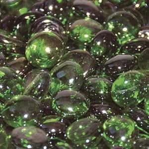 Perlas de Cristal chimenea vidrio Esmeralda Verde Luster 1/2Inch–25libras