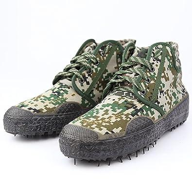 Damen Herren Schwarze Armee Kampfstiefel Wanderschuhe Trekking Stiefel Winterschuhe Unisex Schuhe für Sport Outdoor CS Freizeit Größe 36-45 von QIMAOO v4RKhzKR