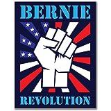 Election 2016 Bernie Sanders Raised Fist 3x4 Rectangular Sticker