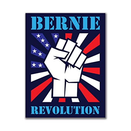 Old Glory Election 2020 Bernie Sanders Raised Fist 3x4 Rectangular Sticker