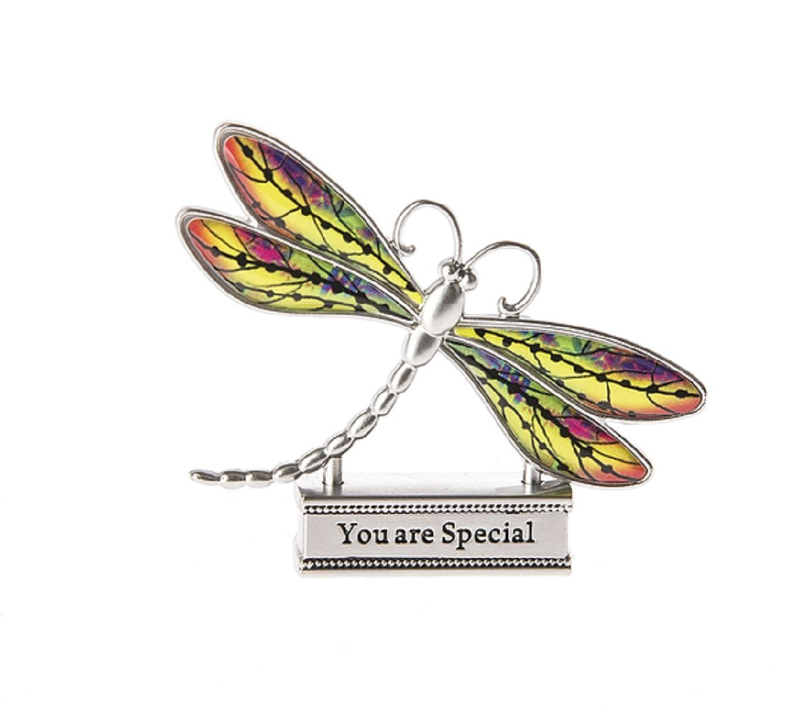 Ganz Everyday Home Decor Live With Joy 1.5in Colorful Dragonfly Figurine (Special)