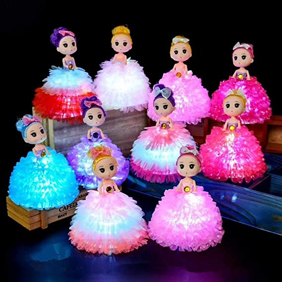 Joyibay 8 Piezas Mini Muñeca Encender Adorno De Mesa Decoración De ...