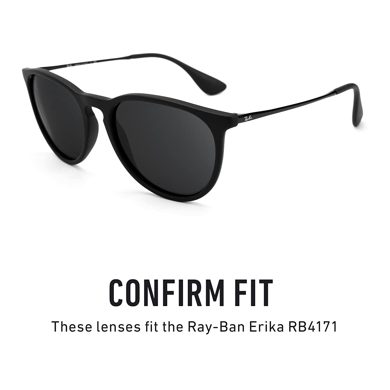 7f9387997f8 Revant Replacement Lenses for Ray-Ban Erika RB4171 Elite Adapt Grey  Photochromic  Amazon.co.uk  Clothing