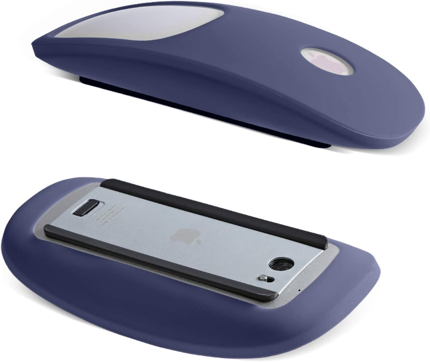 Protective Case for Apple Magic Mouse 1 and 2, Silicone Cover/Sleeve Compatible with Apple Magic Mouse Lightweight Anti-Slip (Grey)