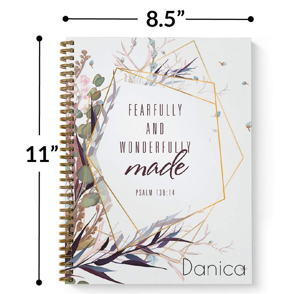 Amazon.com : Wonderfully Made Personalized Notebook/Journal ...