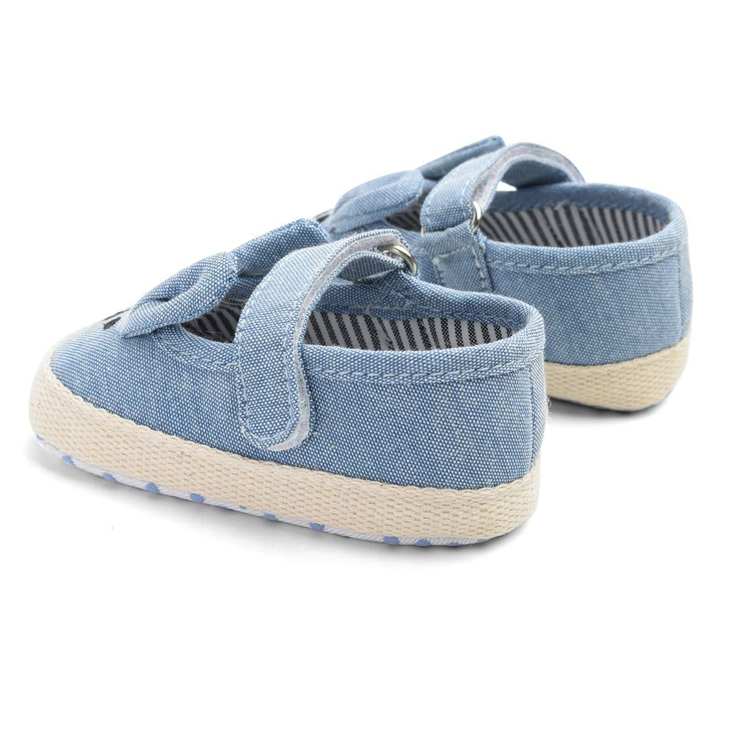 Kimanli Newborn Baby Girls Rabbit Cartoon Anti-Slip First Walkers Soft Sole Shoes