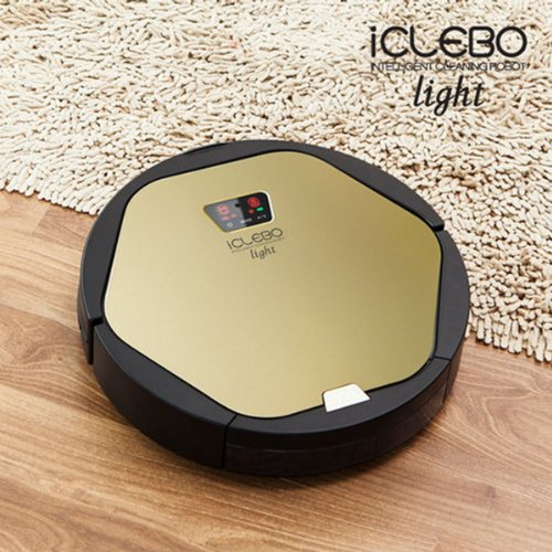 iCLEBO Light YCR-M06-L1 Gold Intelligent Cleaning Robot Vacuum Cleaner Black