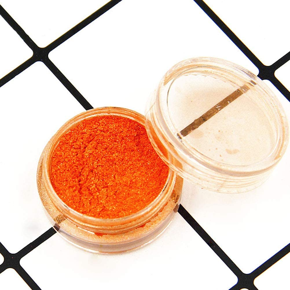 Glitter Powder Pigment Eyeshadow Lip Gloss Face Nail Art Nail Polish Pigment Powder Making Colorant Set, 16PCS Random Color