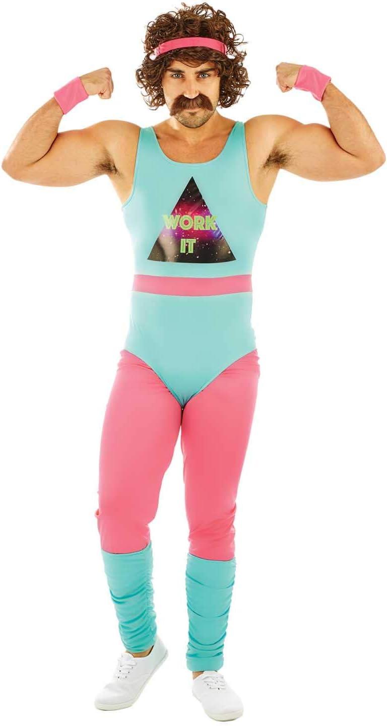 Fun Shack Azul Monitor De Fitness De Los 80 Disfraz para Hombres ...