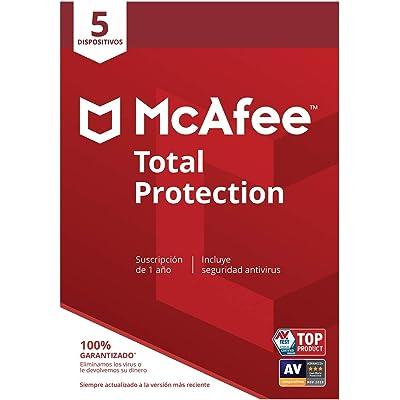 McAfee Total Protection - Antivirus   5 Dispositivos   Suscripción de 1 año   PC/Mac/Android/Smartphones  Código de activación por correo