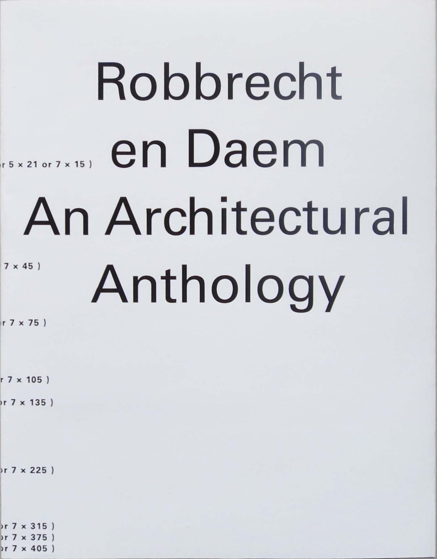 Download Robbrecht en Daem: An Architectural Anthology pdf epub