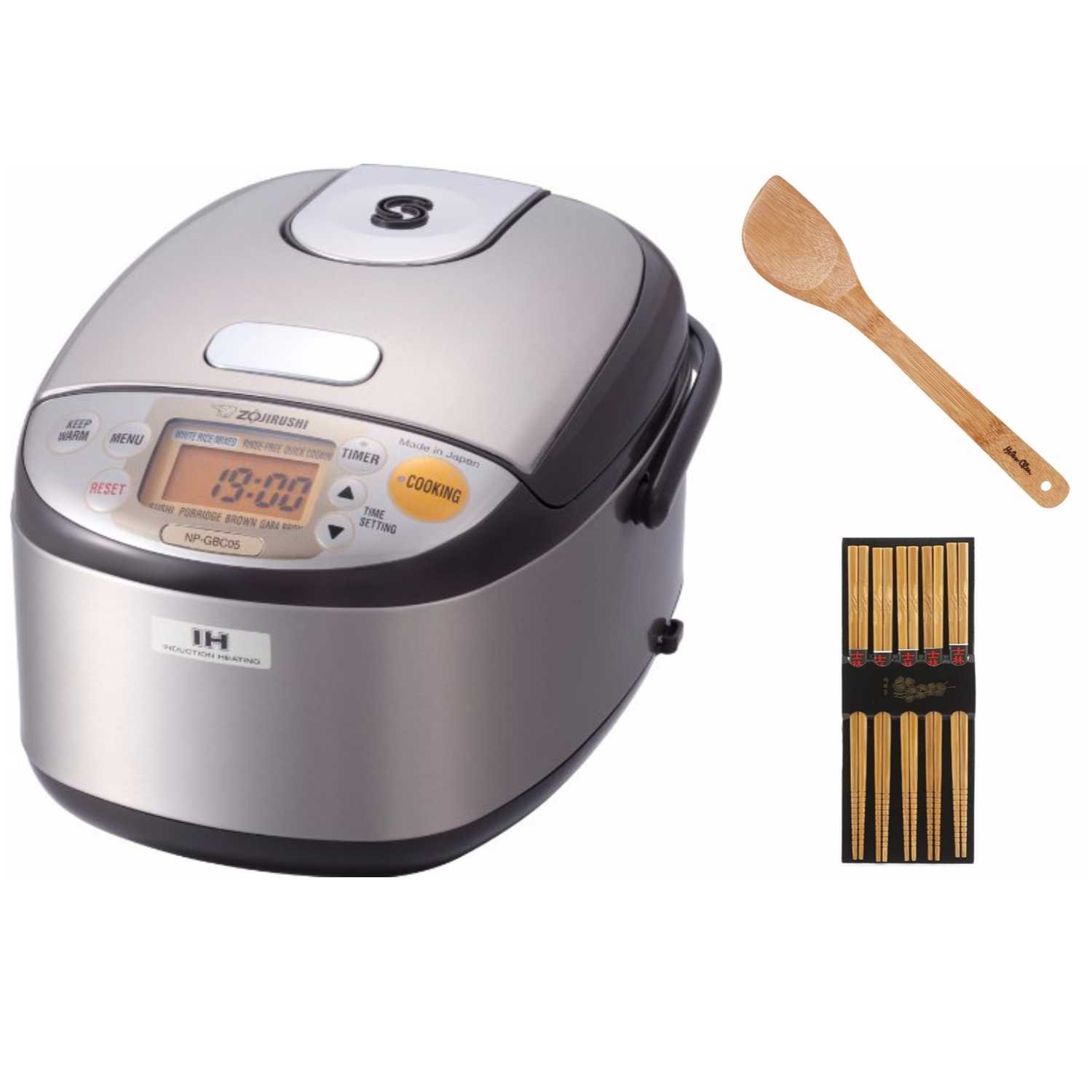 Zojirushi NP-GBC05 Induction Heating System Rice Cooker and Warmer Includes Chopsticks and Spatula