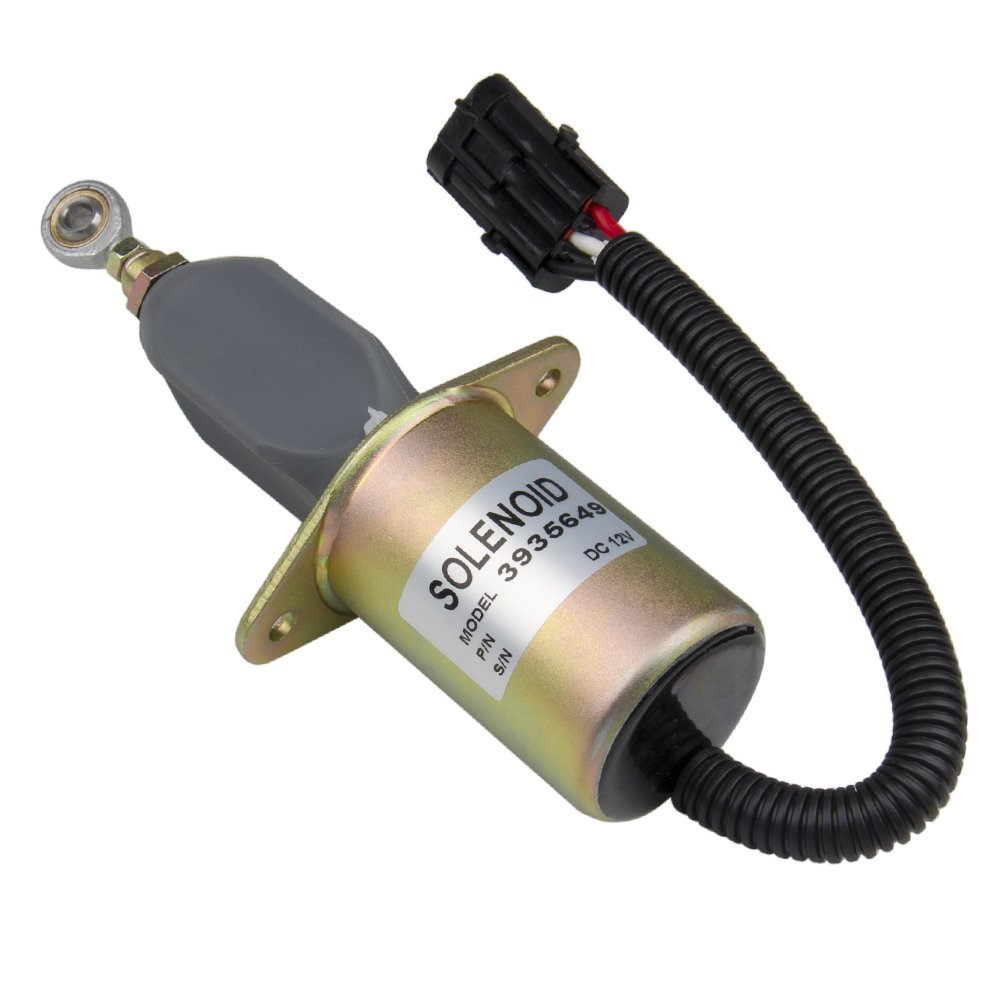 Bang4buck Replacement Fuel Shut Off Solenoid 3 For 5.9L or 8.3L Cummins Diesel Engine 3935649