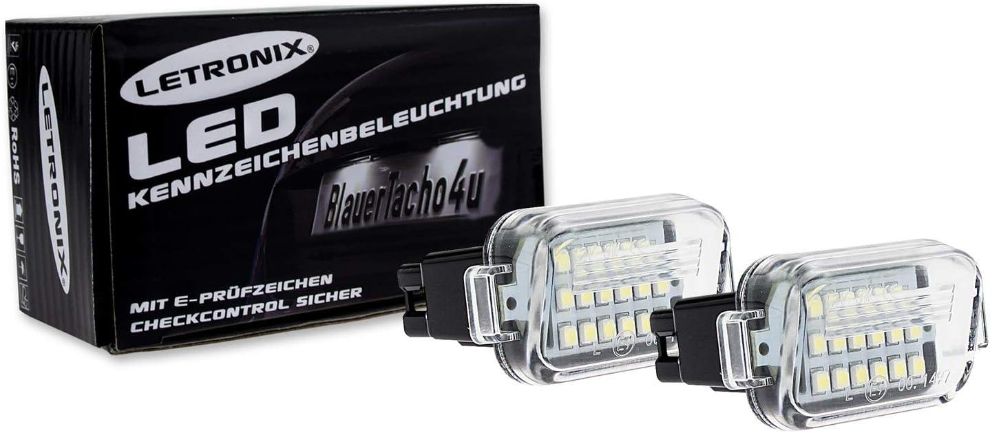 LETRONIX SMD LED Kennzeichenbeleuchtung Module F/ür Maz 6 Typ GJ//GL ab 2015 /& 3 Typ BL 2009-2013 /& 3 Typ BN /& BM 2013-2019 mit E-Pr/üfzeichen