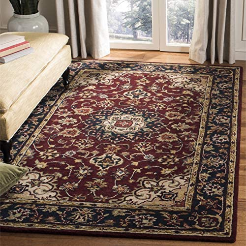 Safavieh Classic Collection CL362A Handmade Traditional Oriental Burgundy and Navy Wool Area Rug 11' x 15'