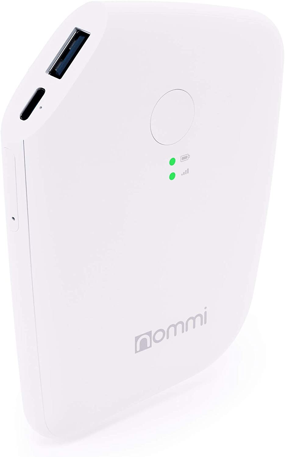 Nommi: Mobile Hotspot | Secured 4G LTE Unlocked Wi-Fi Hotspot Device | Pay-as-You-Go Portable MiFi Hotspot | 10GB US Data + VPN | Wi-Fi Extender | eSIM/SIM in 150 Countries | 5600 mAh Power Bank