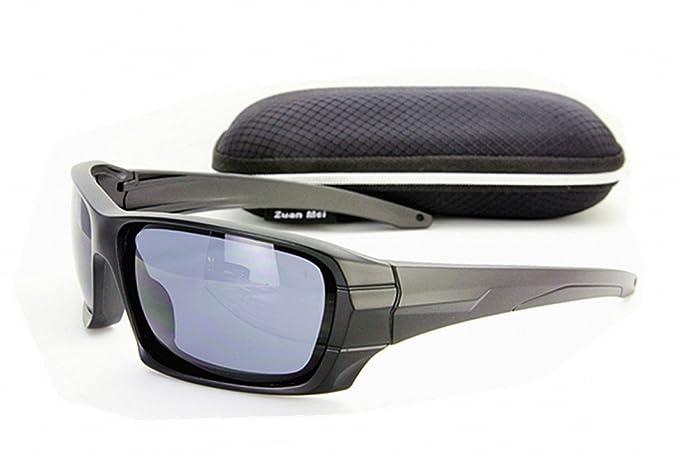 Gafas de sol polarizadas Lente negra Gafas de sol deportivas Gafas de sol Lente negra Con