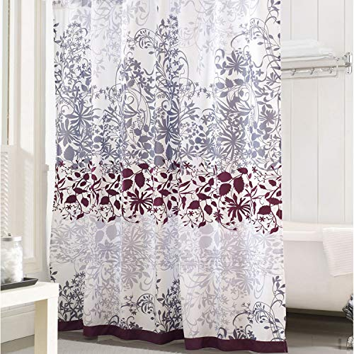 - DS BATH Enchanted Floral Shower Curtain,Flower Shower Curtain,Fabric Shower Curtains for Bathroom,Contemporary Bathroom Curtains,Print Waterproof Polyester Shower,72