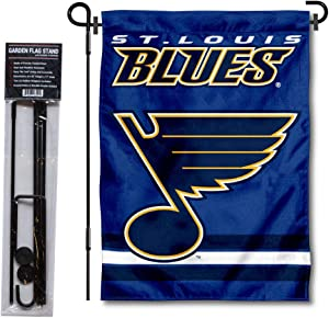 WinCraft St. Louis Blues Garden Flag with Pole Stand Holder