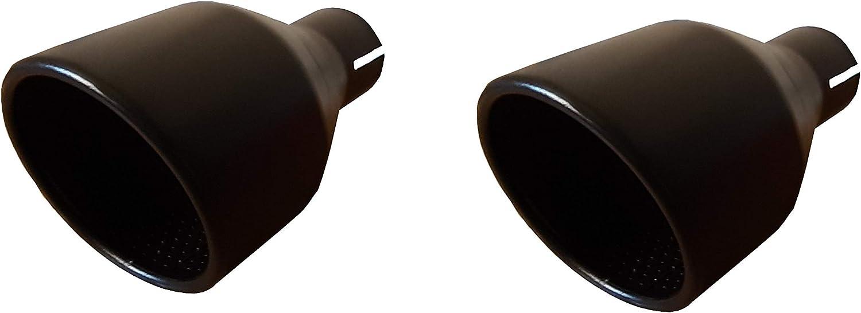 CARTUNER/® Duplex Auspuffblenden Endrohre 100mm Edelstahl schwarz matt mit Innenabsorber
