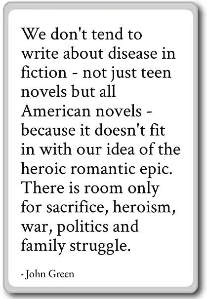 Amazon.com: We don\'t tend to write about disease in fiction ...