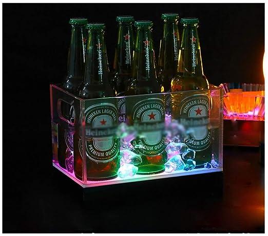 Compra FMLSDMBT Cubitera, Cubo De Hielo LED, Tubo Cheers, Barril ...