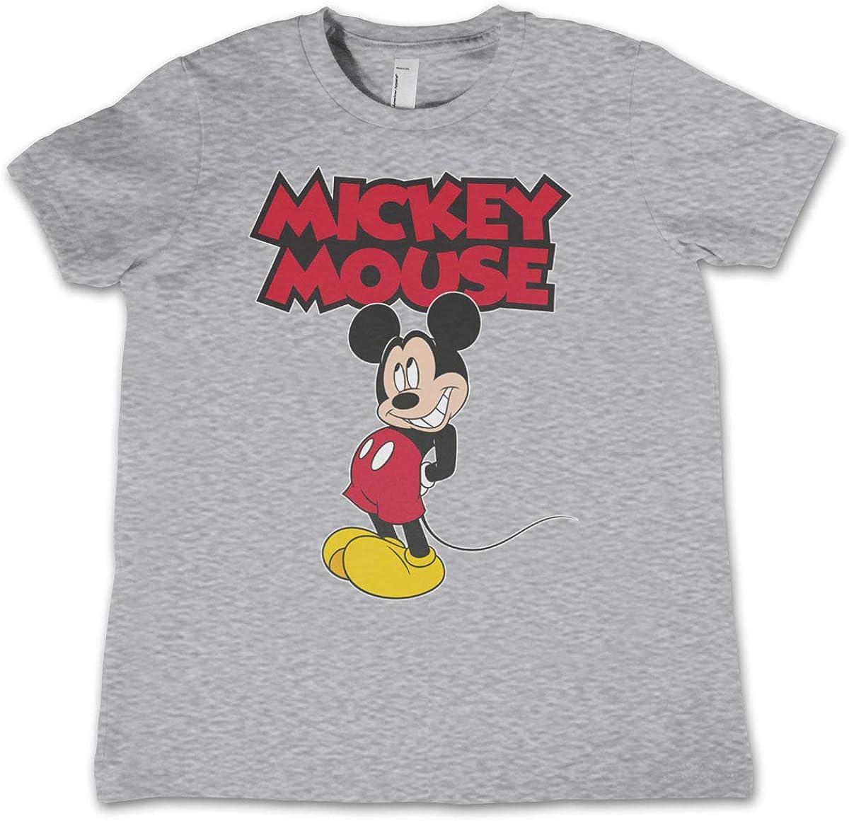 Mickey Mouse Licenciado Oficialmente Little Niños Camiseta (Gris Claro): Amazon.es: Ropa y accesorios