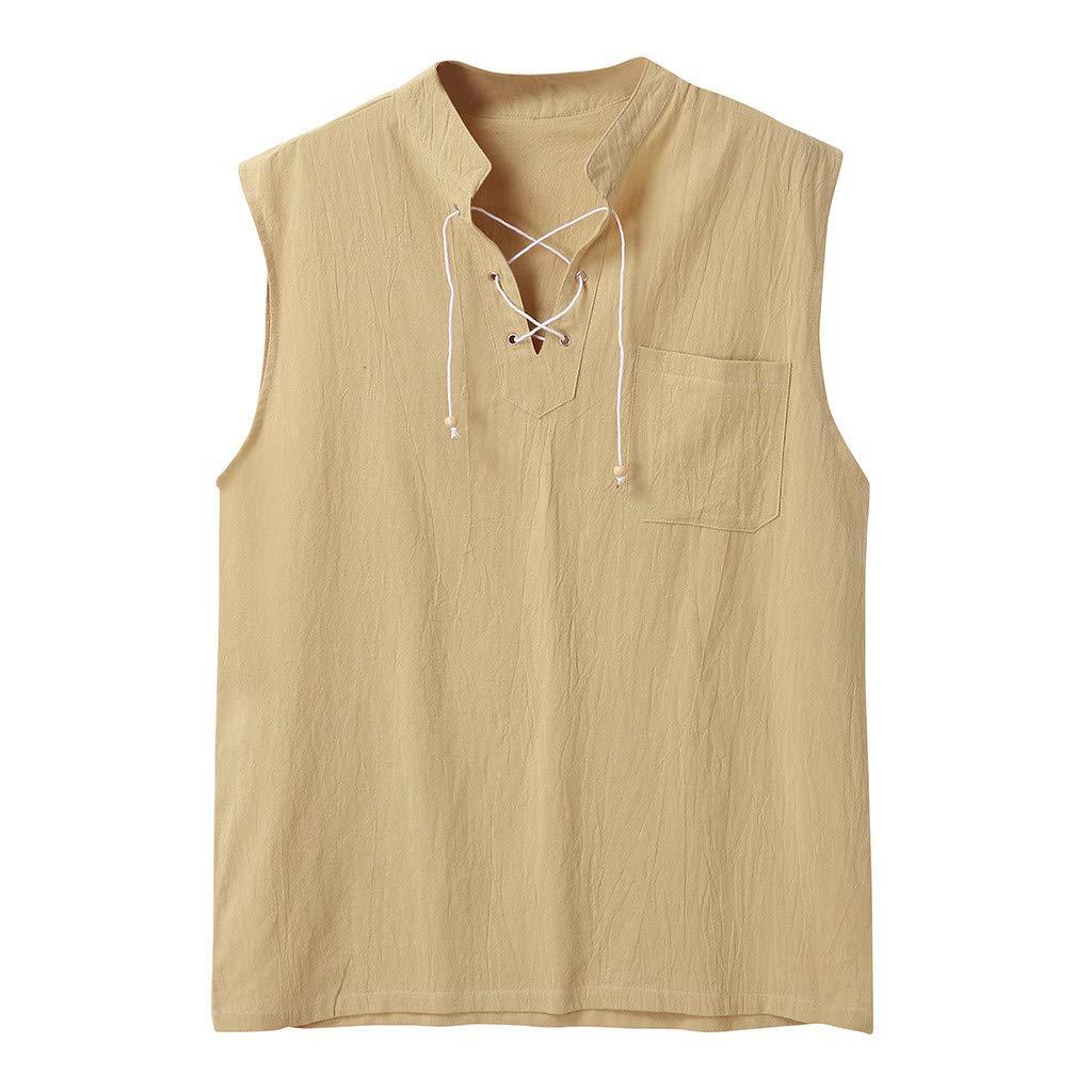TIFENNY Mens Fashion Loose T-Shirt Tee Hippie Shirts V Neck Short Sleeve Beach Shorts Pants Suit Sets