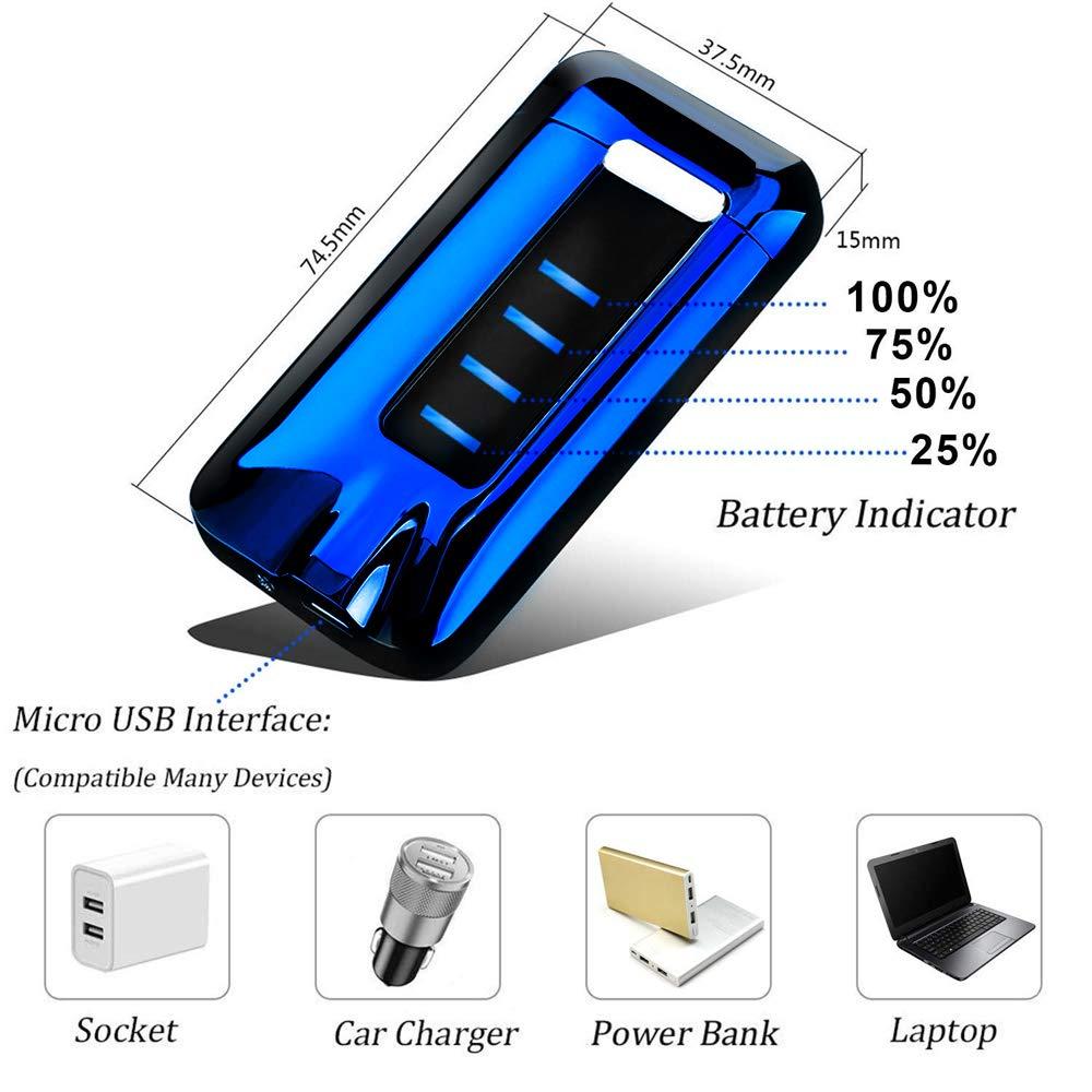 KIMILAR Encendedor Eléctrico USB, Mechero Recargable, Doble Arco & Sensor Tactil & A Prueba de Viento & Impermeable & Sin Llama para Cocina ...