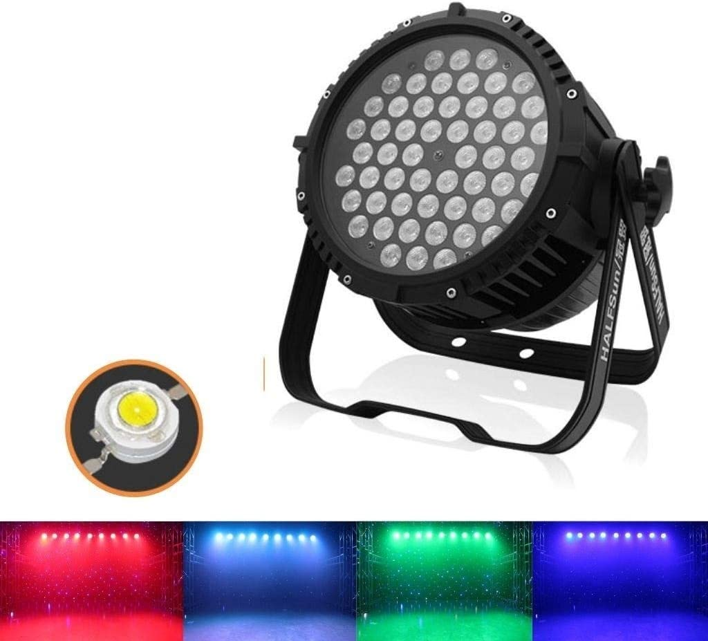 Remote Control for Home DJ Club Pool Pond zhanm7.13 Disco Lights for Parties 54 LED Waterproof 180W Par Light,3 in 1 Colour Disco Stage Dance Party Spotlight Cristal Ball Effect