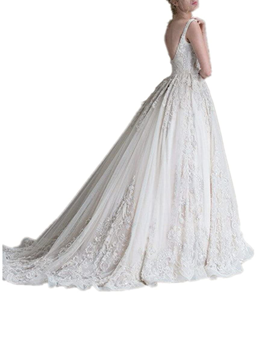 Wide Collar Wedding Dress