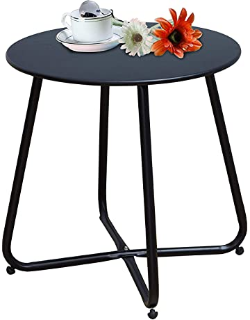 9a1bcd86dc9b Grand Patio Steel Patio Coffee Table, Weather Resistant Outdoor Side Table, Small  Round End