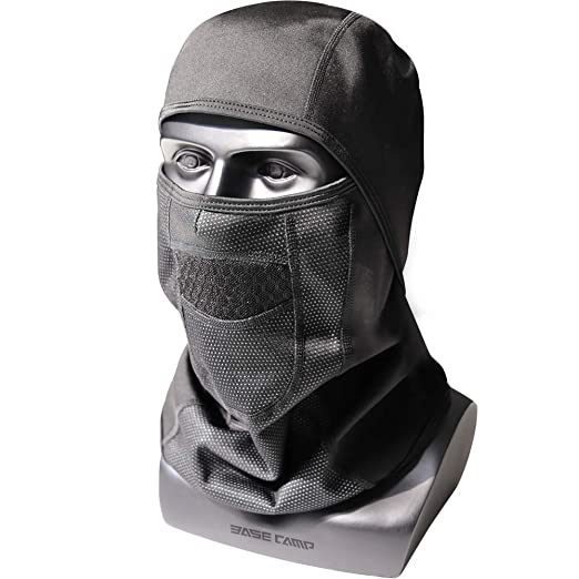 b9d7f9de2f0 Balaclava Face Mask for Winter Ski Snowboard Cold Weather Outdoor Sports -  Average Size (Black