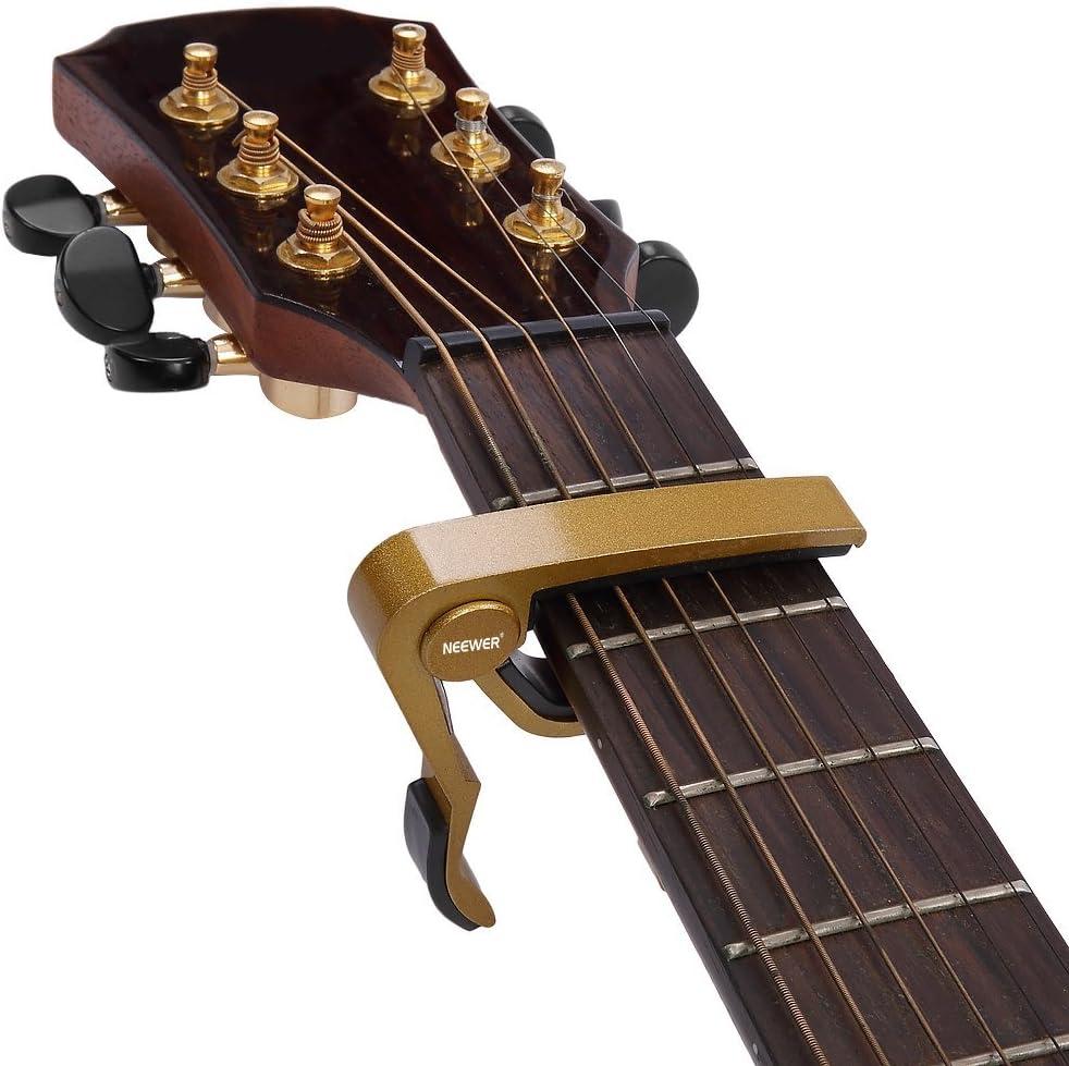 Neewer Golden Single-handed Guitar Capo Cambio Rápido: Amazon.es ...