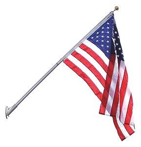 ANNIN FLAGMAKERS Flag Pole, 8 ft. H, Aluminum