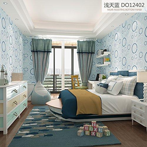 simple-non-woven-wallpaper-circle-modern-bedroom-living-room-wallsa