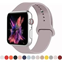 VATI Sport Band Compatible with Apple Watch Band 38MM 40MM 42MM 44MM, Soft Silicone Sport Bands Strap Compatible with iWatch Apple Watch Series 4, Series 3, Series 2, Series 1 S/M M/L