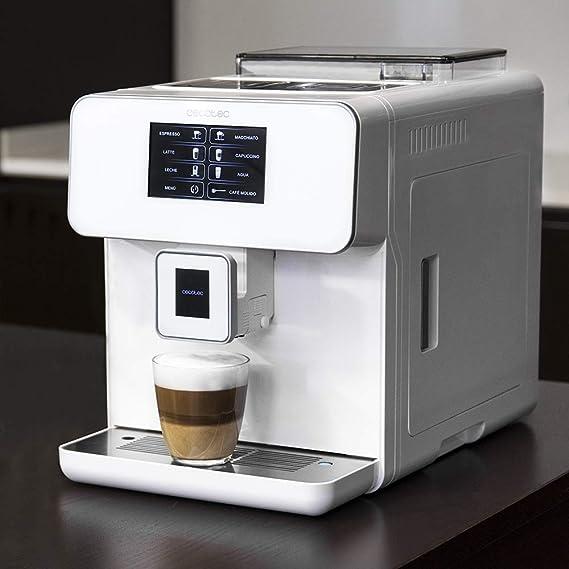 Cecotec Power Matic-ccino 8000 Touch Cafetera Megautomática que muele café con Depósito de leche. Prepara Cappuccino con solo pulsar un botón.