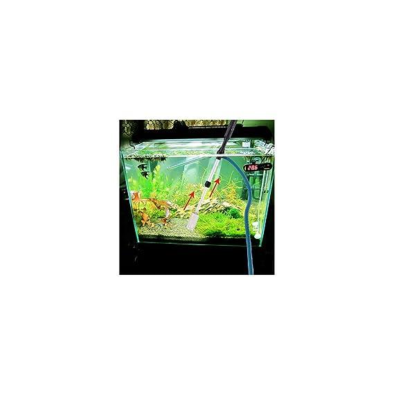Ocama - Batería para acuario con sifón para aspiradora de peces, tanque de agua, sifón, filtro para limpieza de peces, herramientas para tanque: Amazon.es: ...