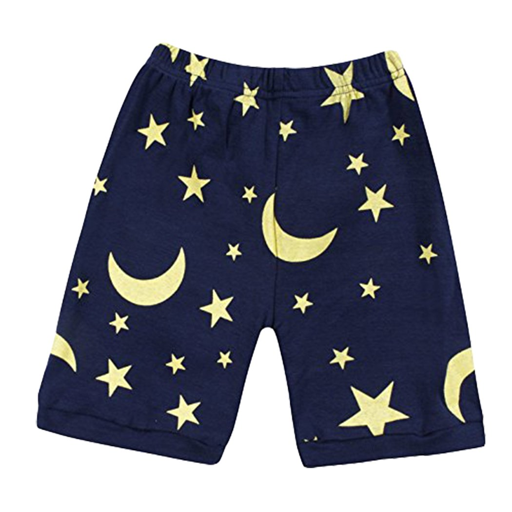 Dhasiue Cartoon Girls Pajamas Cotton Short Pajama Set Little Kids Sleepwear Clothes Size 1-7 Years