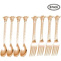 White Hunpta Giraffe Fork Spoon Set Dessert Fruit Fork Spoon Kids Tableware