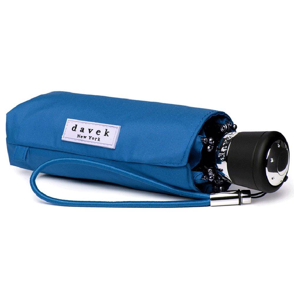 DAVEK MINI COMPACT UMBRELLA (Royal Blue) - Quality Windproof Travel Umbrella, Strong & Portable