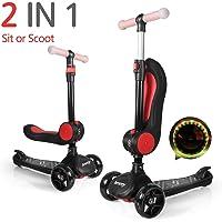 besrey 2 en 1 Scooter para niños Patinetes