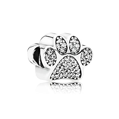 4e2bba485 Amazon.com: Pandora Cheap Pandora Pave Paw Charm 791714CZ: Jewelry